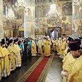 Делегация Калужской епархии приняла участие в Патриаршем богослужении в Кремле